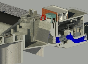Hydropower plant Raška (Serbia) processed by BIM methodology